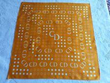 N07 Foulard carré orange Como Dinamico 51x51 SQUARE SCARF Panuelo cuadrado