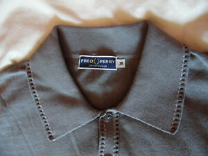 Polo Fred Perry Reissues Rare Mod 60s gris Taille S-M Casuals