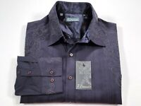 7 Diamonds XL Men's Charcoal Gray Embroidered Long Sleeve Shirt NEW NWT