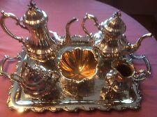 "5 Piece Reed & Barton Sterling Silver Tea Set ""Bradford"" Pattern"