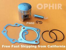 New 44mm Piston Kit Gaskets for Yamaha Big Bore PW50 PW60 QT60 60cc Free Ship