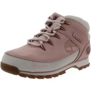Timberland Womens Euro Sprint Pink Hiking Boots Shoes 9 Medium (B,M) BHFO 9633