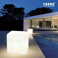 Weatherproof LED Solar Cube Garden Light Porch Landscape Pathway Night Light RGB