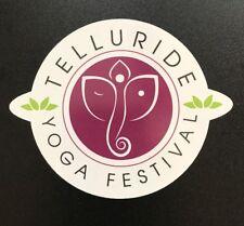 Telluride Yoga Festival sticker - Colorado Mountains Yoga Sports Retreat Aspen