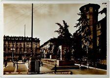 Cartolina Torino Piazza Castello - Monumento Al Duca D'Aosta Viaggiata