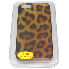 Leopard Animal Print Case Hard Rear Cover Pouch Holder Sleeve for Apple iPhone 5
