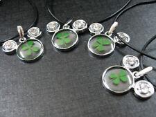4pcs RealFour Leaf Clover lucky  St parker rick gift cat stone Style Pendants
