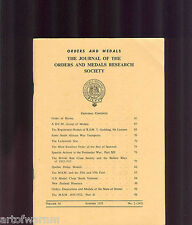 OMRS  vol 14  # 2  1975  Journal Orders & Medals Research Society  UK MEDAL MAGZ
