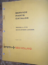 1980 Speery/New Holland Model L-779 Skid-Steer Loader Factory Parts Catalog Book