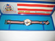 Bradley Time Mickey Mouse Official Bicentennial Watch In Original Case 1976 RARE
