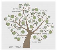 Family Tree sampler Cross Stitch Kit Florashell