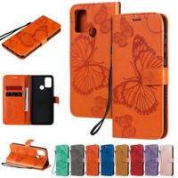 Butterfly Wallet Leather Flip Case Cover For Huawei P30 Lite P Smart Z Y7 2019