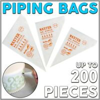 Disposable Clear Icing Frosting Filling Pastry Piping Bag Cake Cream Baking Bags
