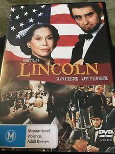 Vidal's Lincoln DVD Region 4 , 1 Disc Sam Waterston Mary Tyler Moore