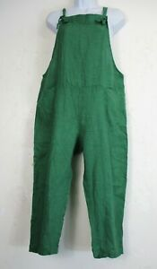 Lagenlook 100% Linen Ladies/Womens Dungarees/Jumpsuit  Pockets  OneSize: Regular