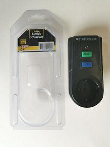 Personenschutz Zwischenstecker FI - Schalter 30mA Fehlerstromschutz RCD 3600W