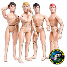 Set of 4 Teen Male Roto Molded Heads with Bodies for Mego figures