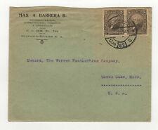 1929 correos del Ecuador Guayaquil Equateur timbres sur lettre / B5A2