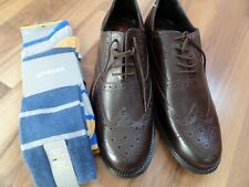 CLIFFORD JAMES Brogues  Leather Shoes,UK 10 & JAEGER SOCKS-SKA MODS NEW