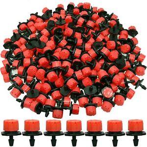 100Pcs Adjustable Micro Flow Drippers 8-Hole Hose Drip Head Irrigation Sprinkler