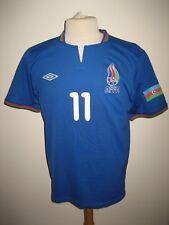 Azerbaijan MATCH WORN affa football shirt soccer jersey trikot maillot size M