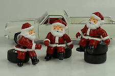 Santa Claus Nicolás Juego de 3 modelo figuras Figurines 1:18 figura diorama