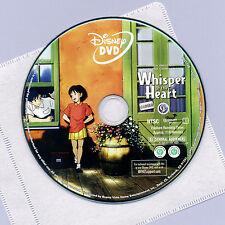 Disney Studio Ghibli Whisper of the Heart 2006 G animated movie DVD disc&sleeve