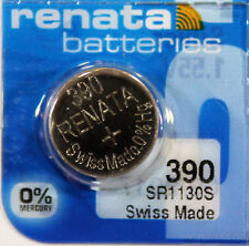 1PCS Renata SR1130S 390 SR1130SW 1.55V Silver Oxide Battery for Watch Swiss Made