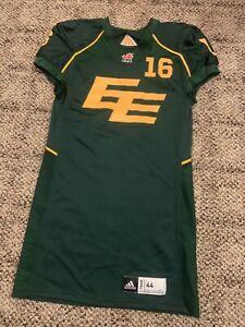 Adidas CFL #16 Team Game Issued Edmonton Elks Eskimos Football Jersey 44 Rare