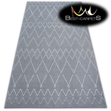 AMAZING Carpets MODERN RUG 'SENSE' ZIGZAG silver white Best-Carpets microfiber