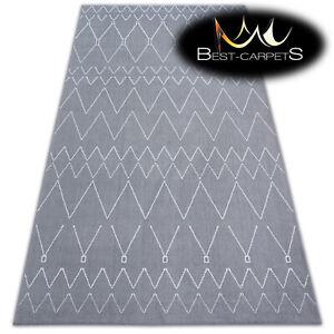 AMAZING Carpets MODERN RUG 'SENSE' ZIGZAG silver white Best-Carpets microfiber