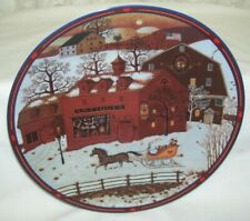 Winter Collectible Plate The Overflow Antique Market by Charles Wysocki
