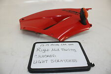 13-15 Honda Cbr600rr Oem Red Right Mid Side Fairing Cowl