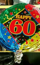 (25 pc.) 60th birthday mylar balloon