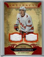 20-21 Upper Deck Artifacts Dual FIGHT STRAP Teuvo Teravainen 10 OF 15 HURRICANES