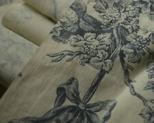Antique Toile French Fabric C. 1900 – Incredible Condition! Tt468