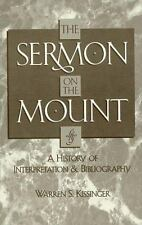 The Sermon on the Mount: A History of Interpretation and Bibliography (American