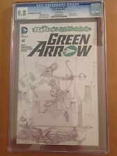 CGC 9.8 Green Arrow #47 Tim Sale Poly-bagged Sketch Variant Cover Harley Quinn