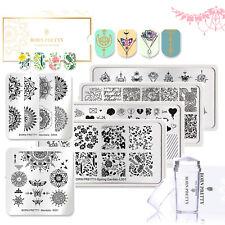 6pcs Nail Art Stamping Templates with Plates Polish Stamping Stamper Scraper Kit
