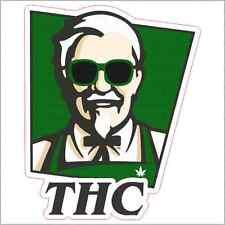 Colonel Sanders Weed THC Custom Vinyl Decal / Sticker