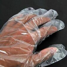 100 x Disposable Gloves Plastic Food Safe Cleaning Gloves Home Kitchen Cook  TL