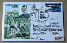 VISCOUNT PORTAL COVER SIGNED LUFTWAFFE PILOTS E RUDORFFER W CRINIUS & K DAHLMANN