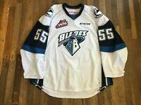 Jordan Henderson Game Used Saskatoon Blades White Jersey CHL WHL