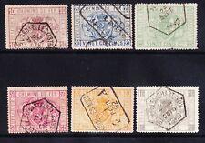BELGIUM 1879  SGP63/8 set of 6 - Railway Stamps - fine used. Catalogue £200+