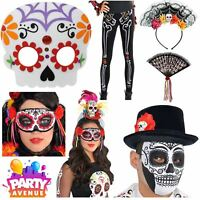 Day of the Dead Costume Accessories Halloween Sugar Skull Flower Fancy Dress Lot