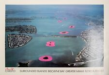 Christo: Surrounded Islands Poster, 1980-83. Signed Fine Art Poster