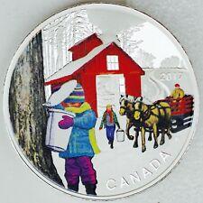 Canada 2017 $10 Iconic Canada: Sugar Shack, 1/2 oz. Pure Silver Color Proof