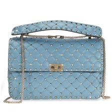 Valentino Rockstud Spike Leather Shoulder Bag - Grey Sky