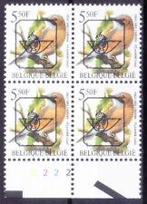 B3b- Belgium 1993 MNH Blk, Pre-cancel Birds, Eurasian Jay