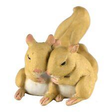 "Pair of Mini Sleeping Squirrels Figurine 2.5"" Long Resin New In Box!"